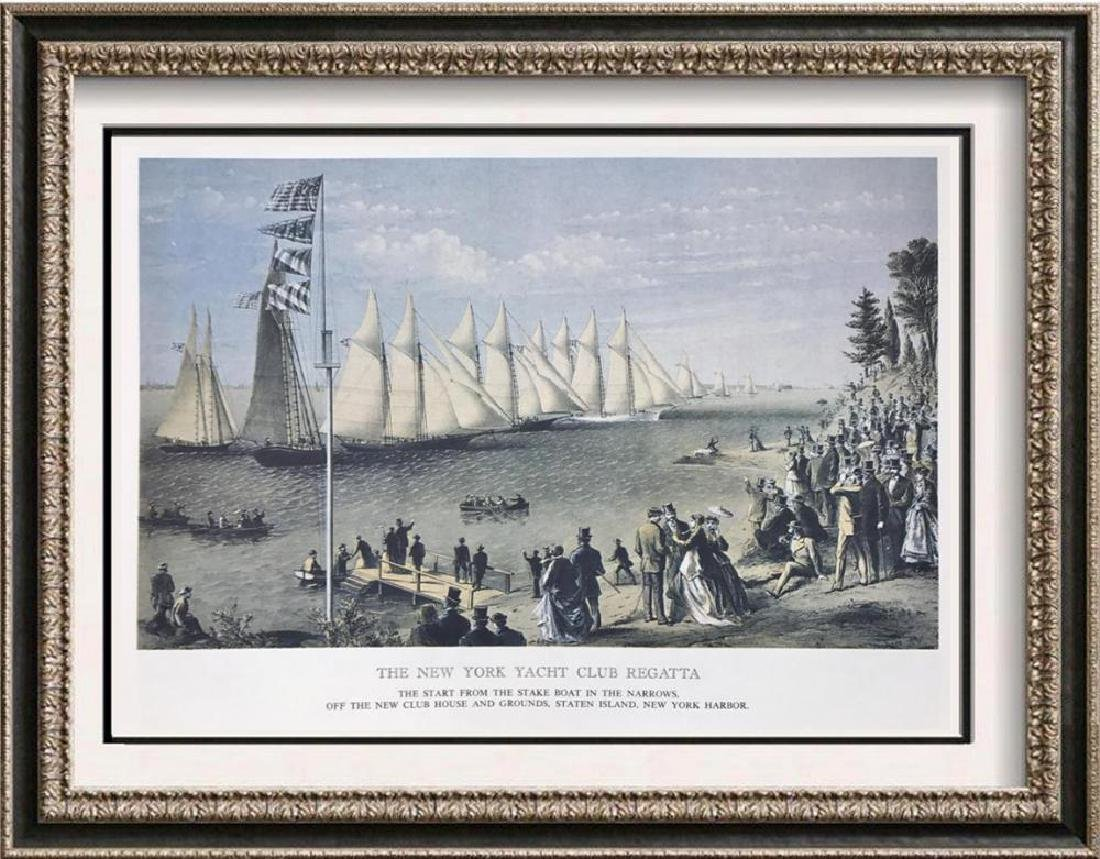 The New York Yacht Club Regatta Color Lithographic Fine