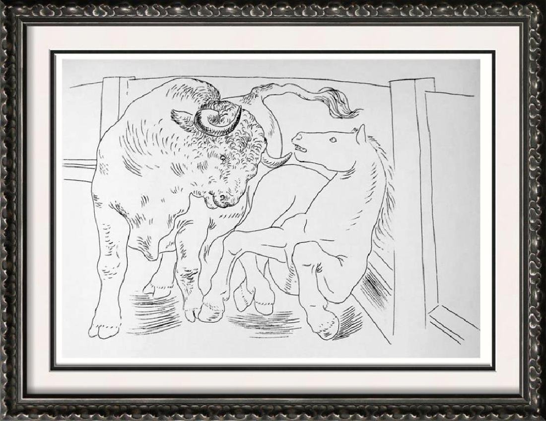 Pablo Picasso 'After'  Bull and Horse c. 1927 Fine Art