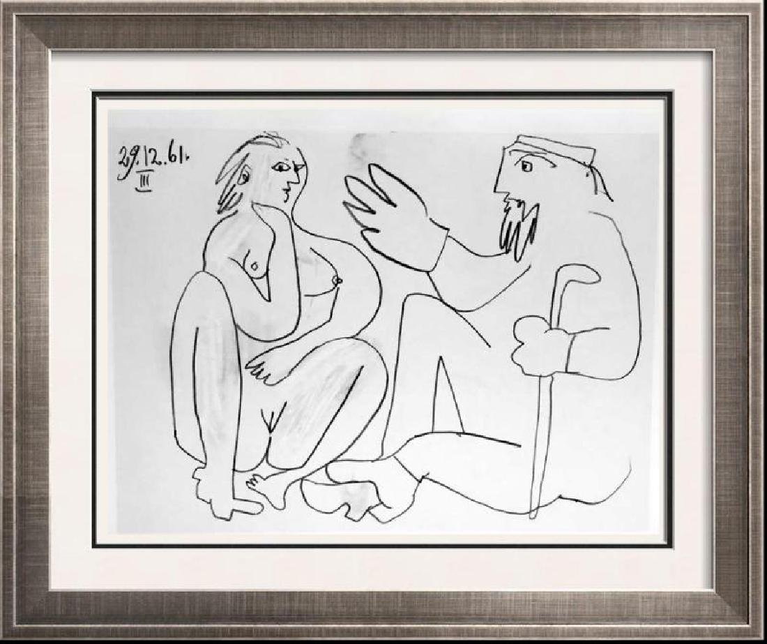 Pablo Picasso Double Sided Black & White Print #