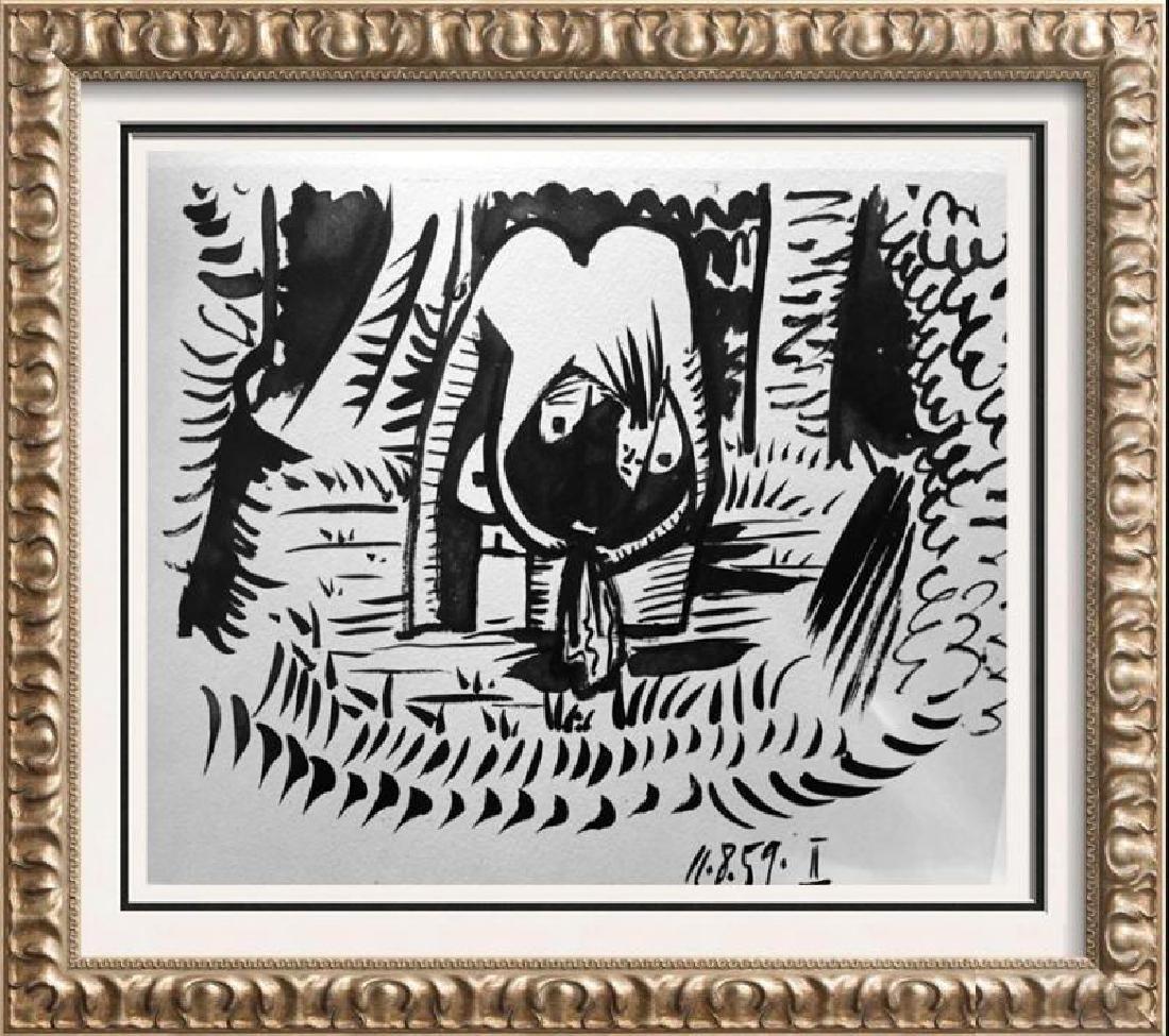 Pablo Picasso 2 Black White + Double Page Full Color