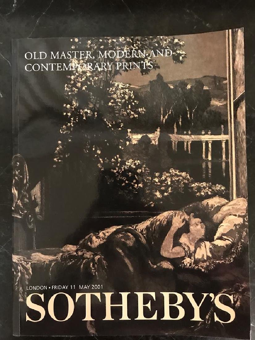 """Sotheby's """"Old Master, Modern & Contemporary Prints"""""""