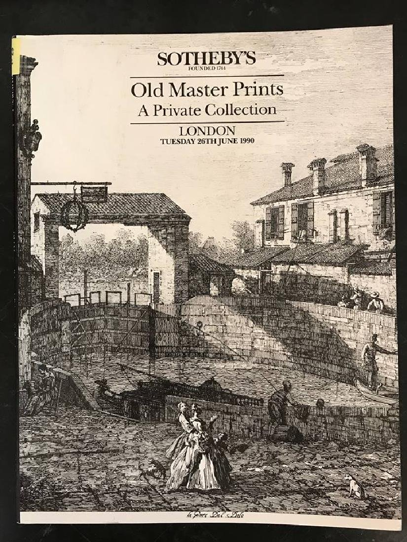 """Sotheby's """" Old Master Prints A Private Collection"""""""