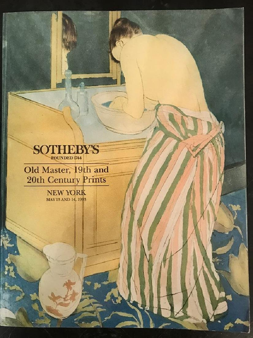 """Sotheby's """"Old Master,19th & 20th Century Prints"""""""