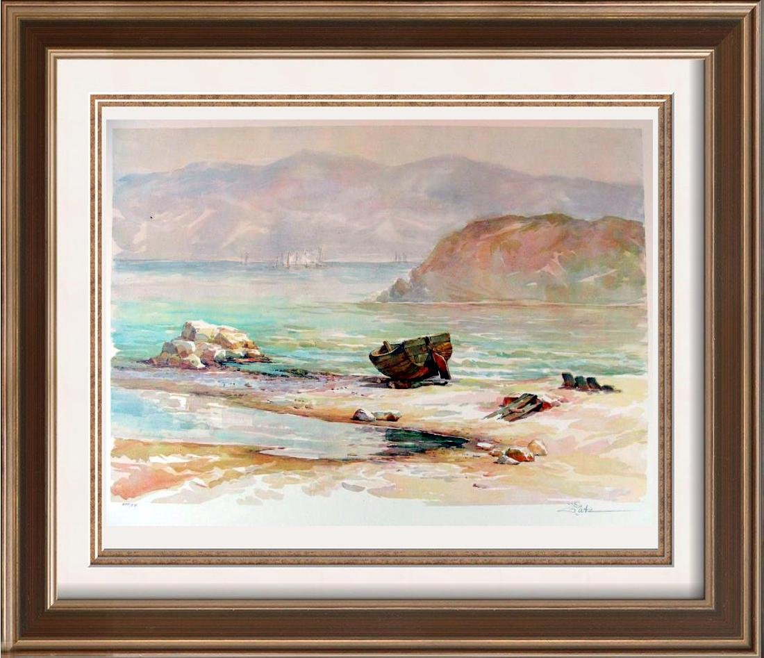Signed Only $20 Lithograph Beach Mountain Landscape