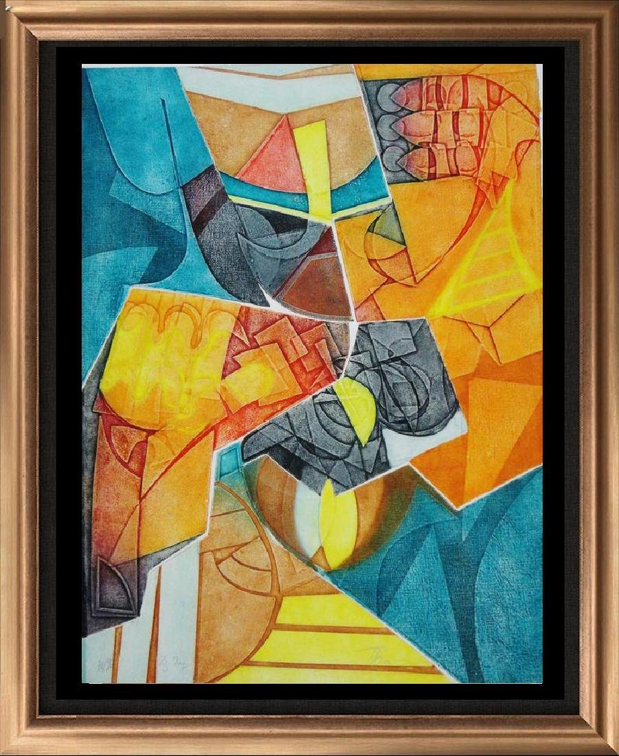 Colorful Bold Abstract Geometric Textured Limited Ed