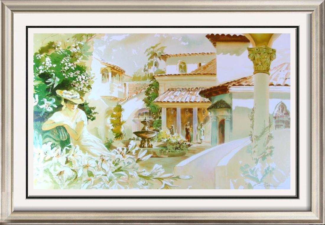 Palm Beach Style Art Scene Colorful Ltd Ed Signed
