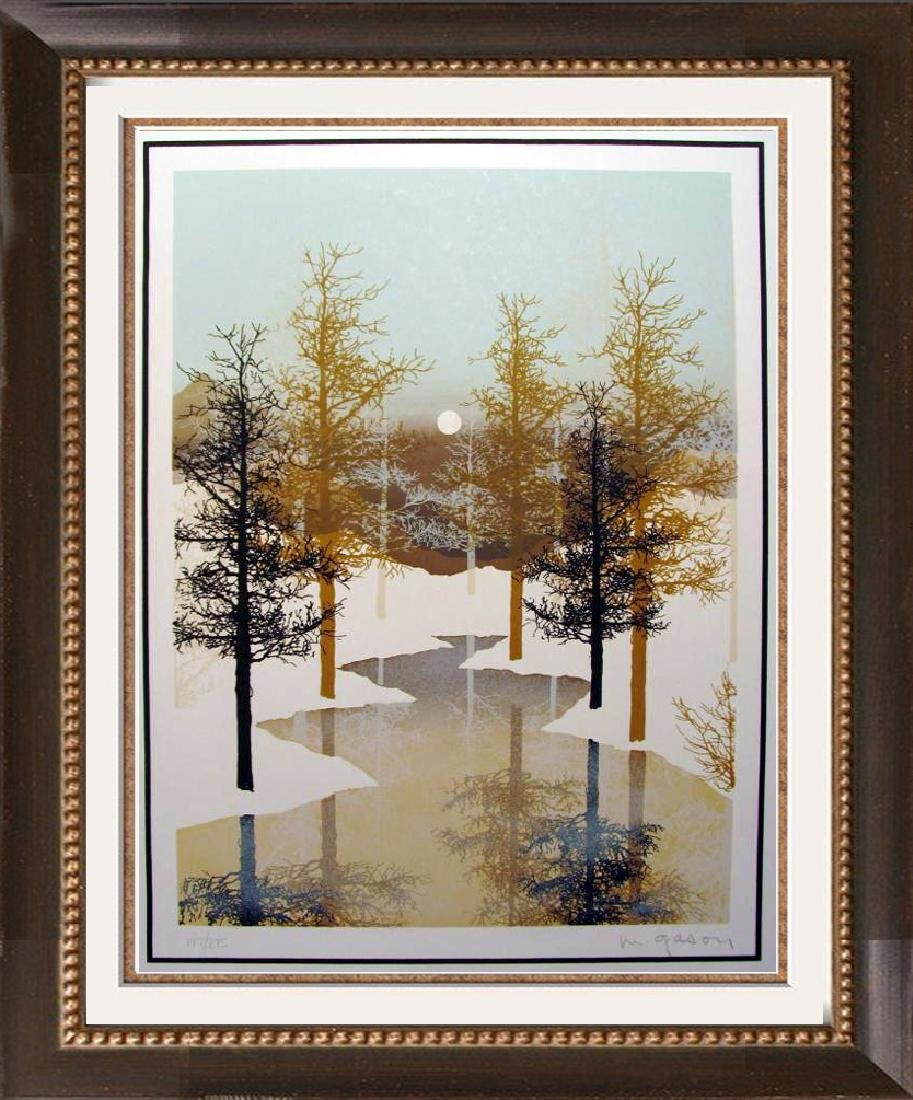 Winter Scenic Abstract Black Gold Ltd Ed Rare Dealer