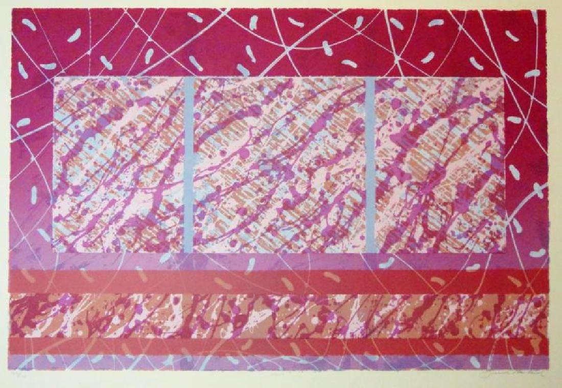 Abstract Red Violet Color Splash Large Modern Ltd Ed - 2