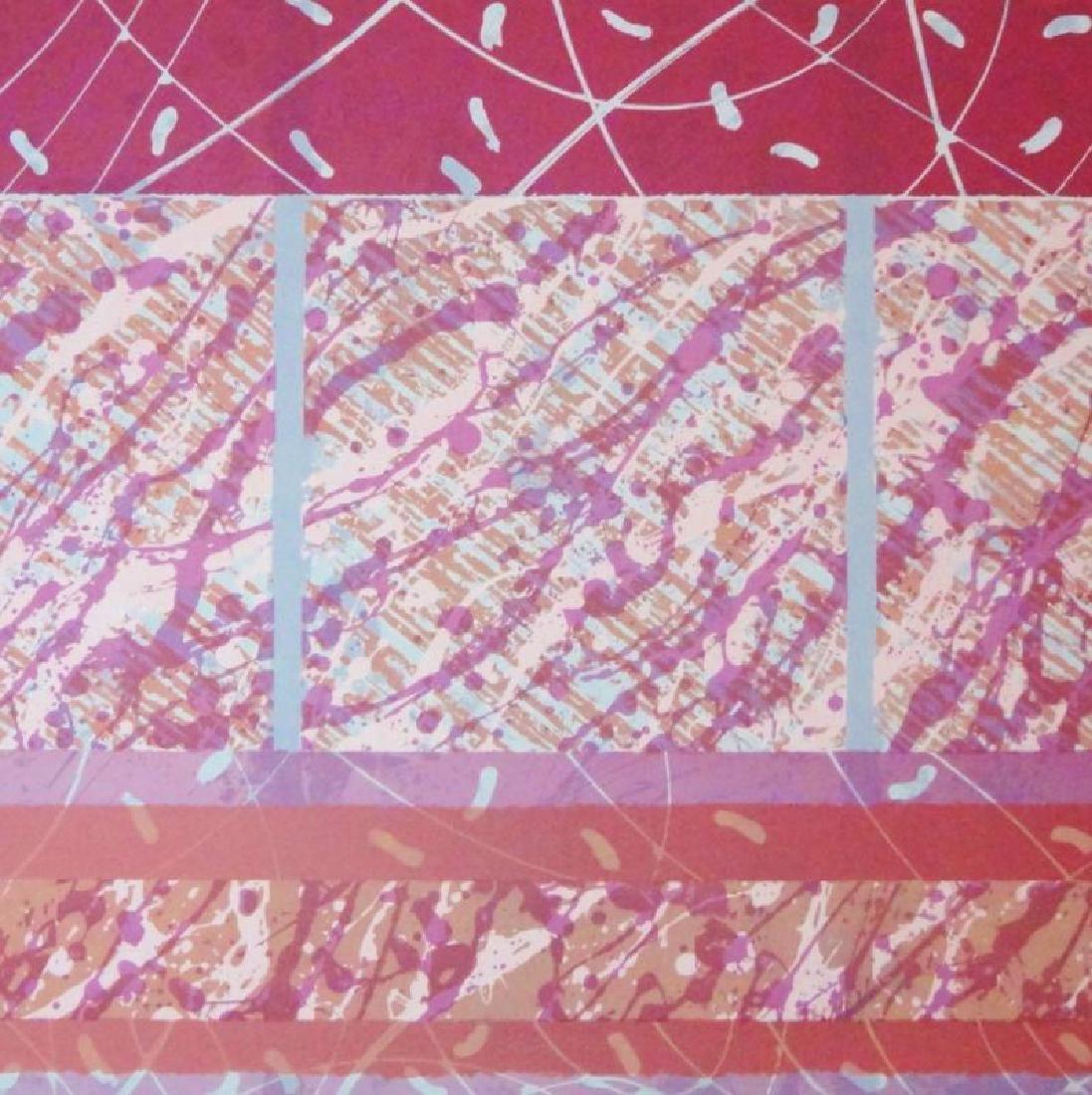 Abstract Red Violet Color Splash Large Modern Ltd Ed - 3