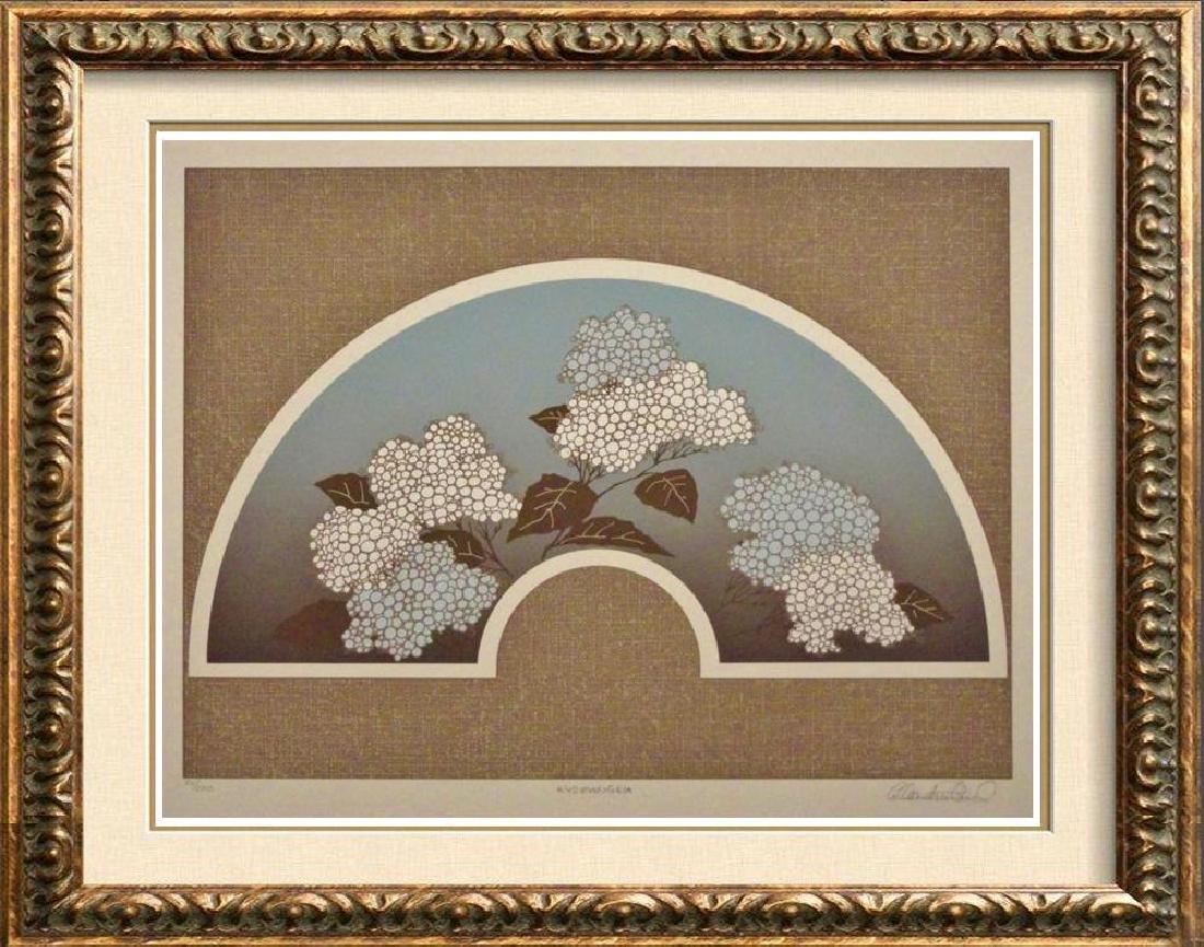 Asian Screen Floral Brown & Blue Ltd Ed
