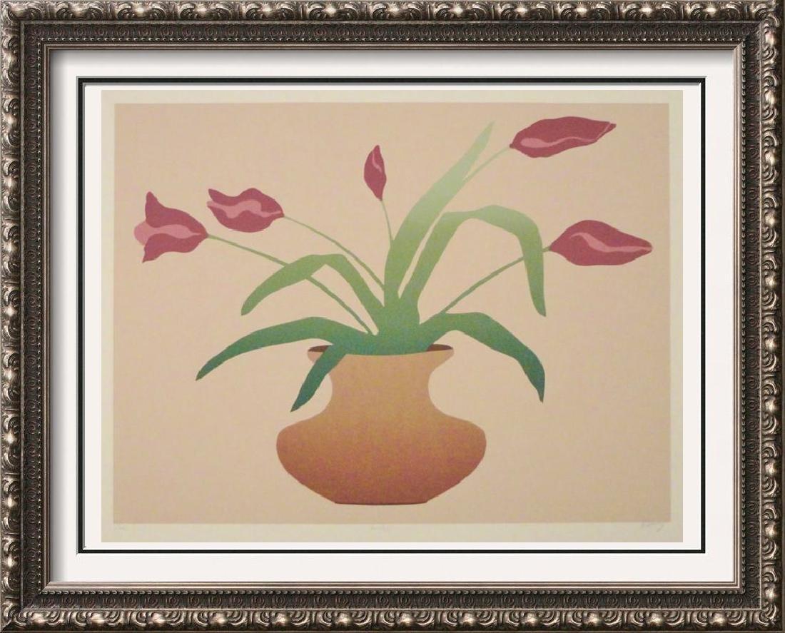 Floral Vase Limited Edition Litho Signed Art Sale