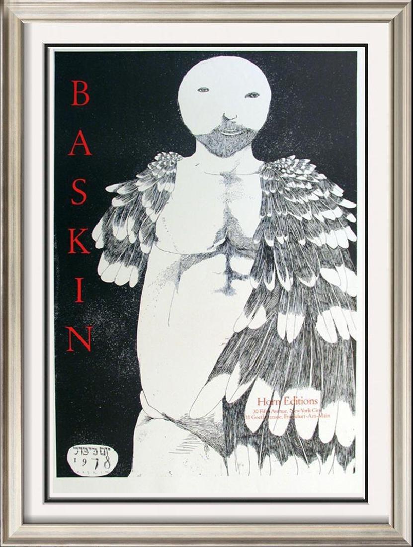 Leonard Baskin Abstract Figure Original Lithograph Sale