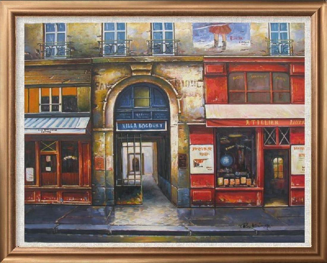 Colorful Street Scene European Impressionism Original