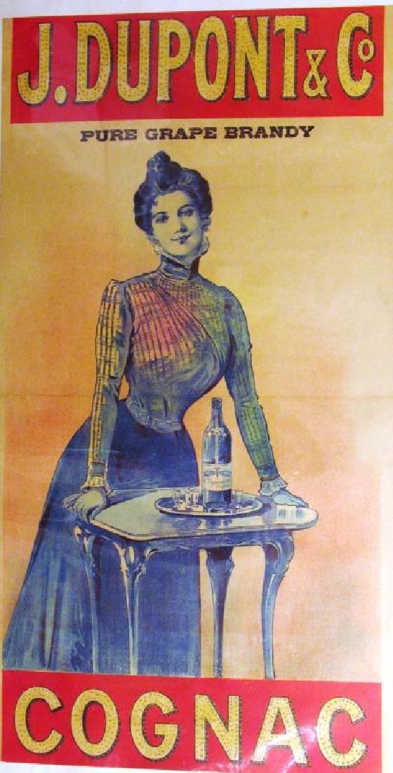 Cognac Dupont & Co Vintage Antique Poster Sale