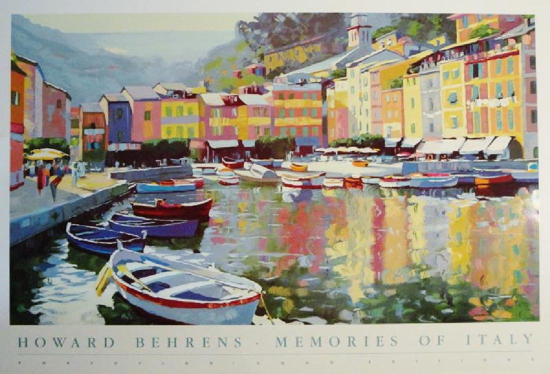 Howard Behrens Impressionism Colorful Offset Lithograph