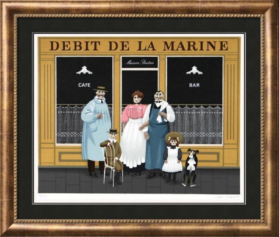 Jan Balet Paris Street Scene Signed Limited Edition