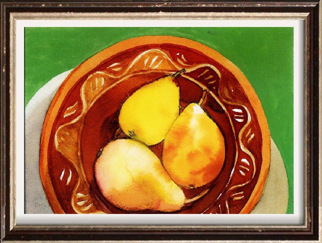 Neum Collection Fruit in Bowl Giclee on Canvas  40 x 50