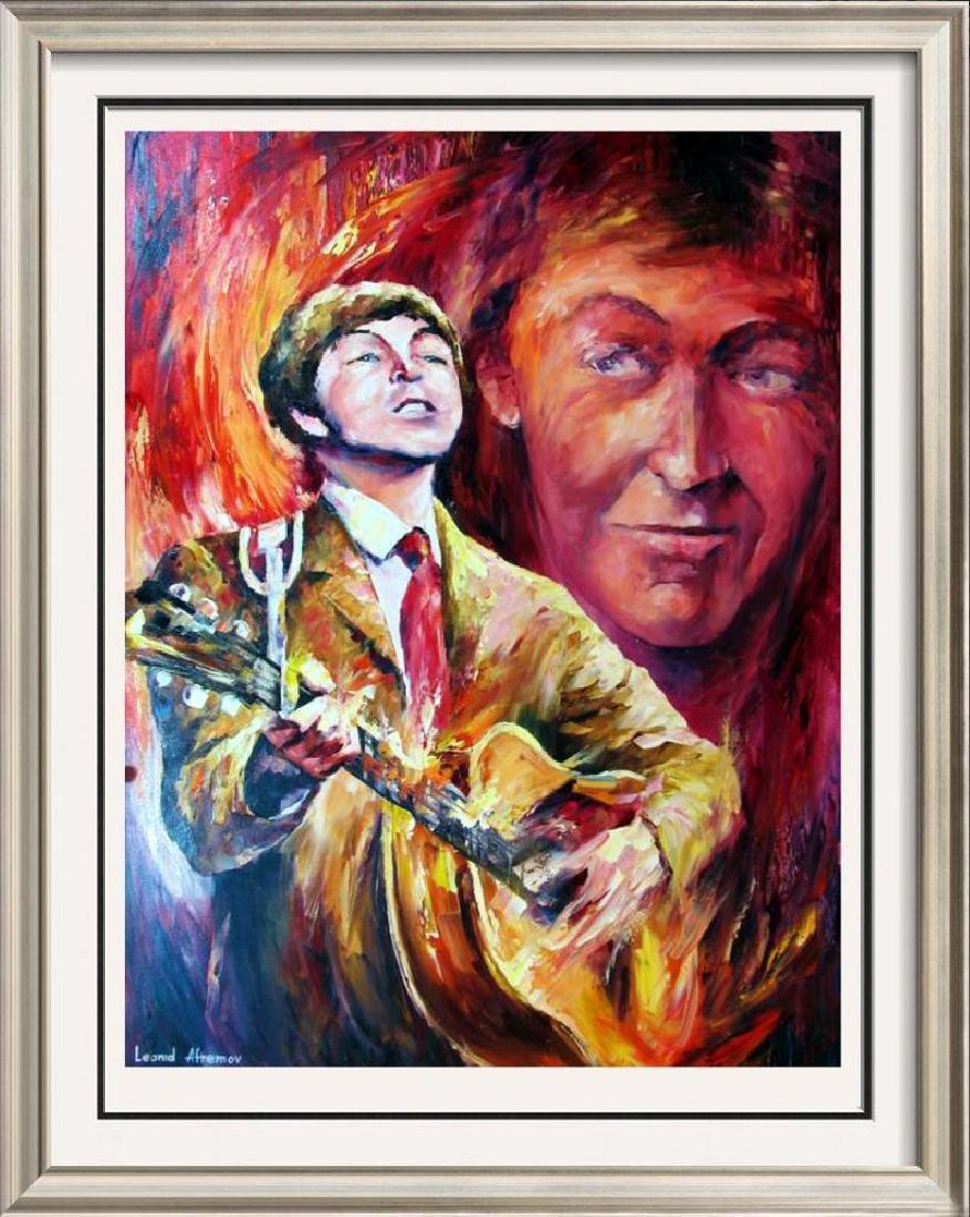 Paul Mccartney Abstract Palette Knife Original Canvas