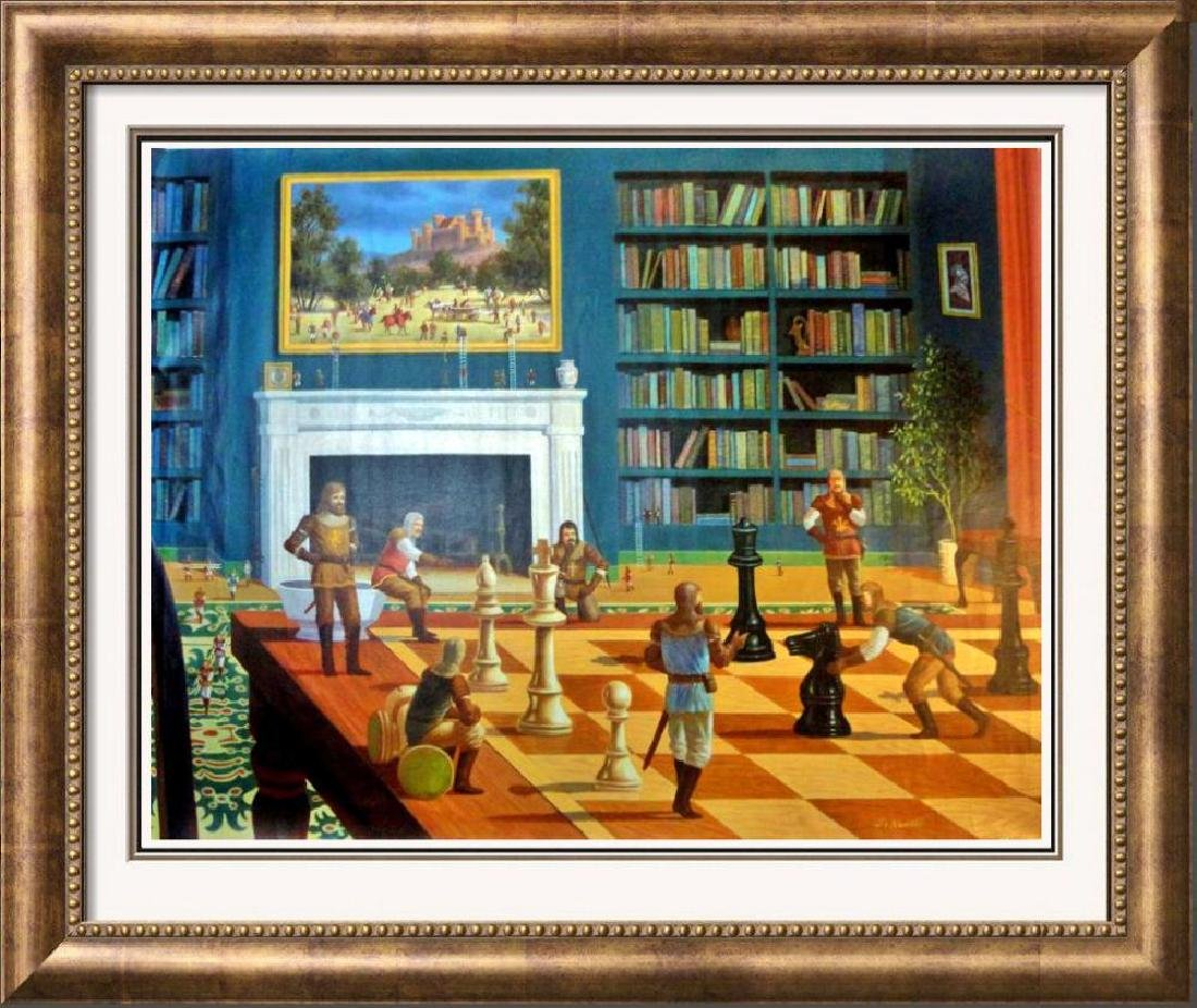 Chess Knights Surreal Large Giclee Signed 30x40 on