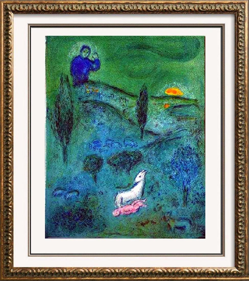 LAMB OF GOD MARC CHAGALL ORIGINAL COLORED LITHOGRAPH
