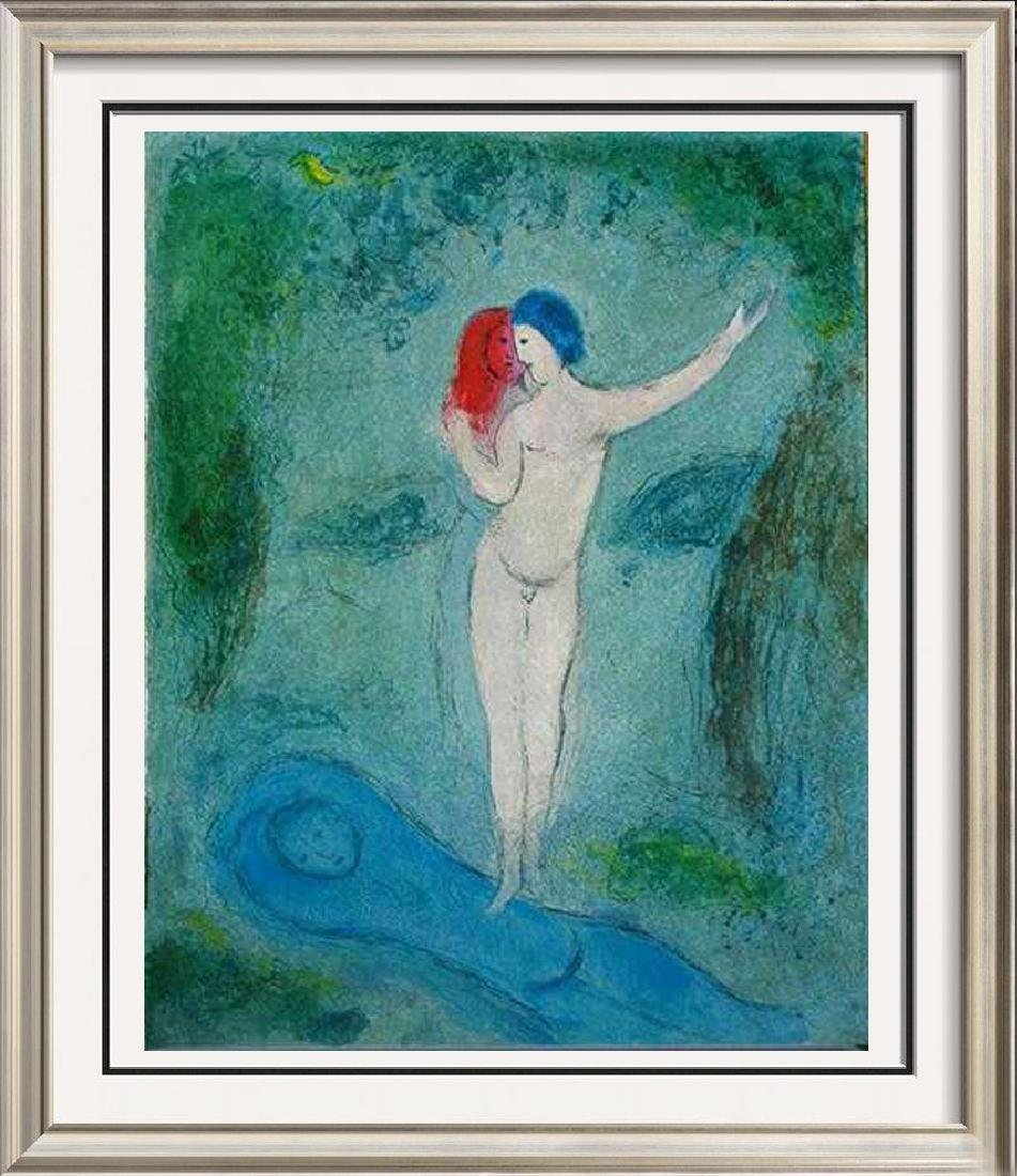 """Chagall """"After"""" Colored Lithograph Rare Sale Huge"""