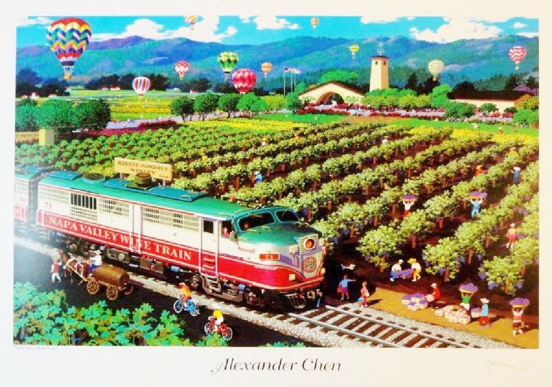 Napa Valley Wine Train Alexander Chen Print Colorful