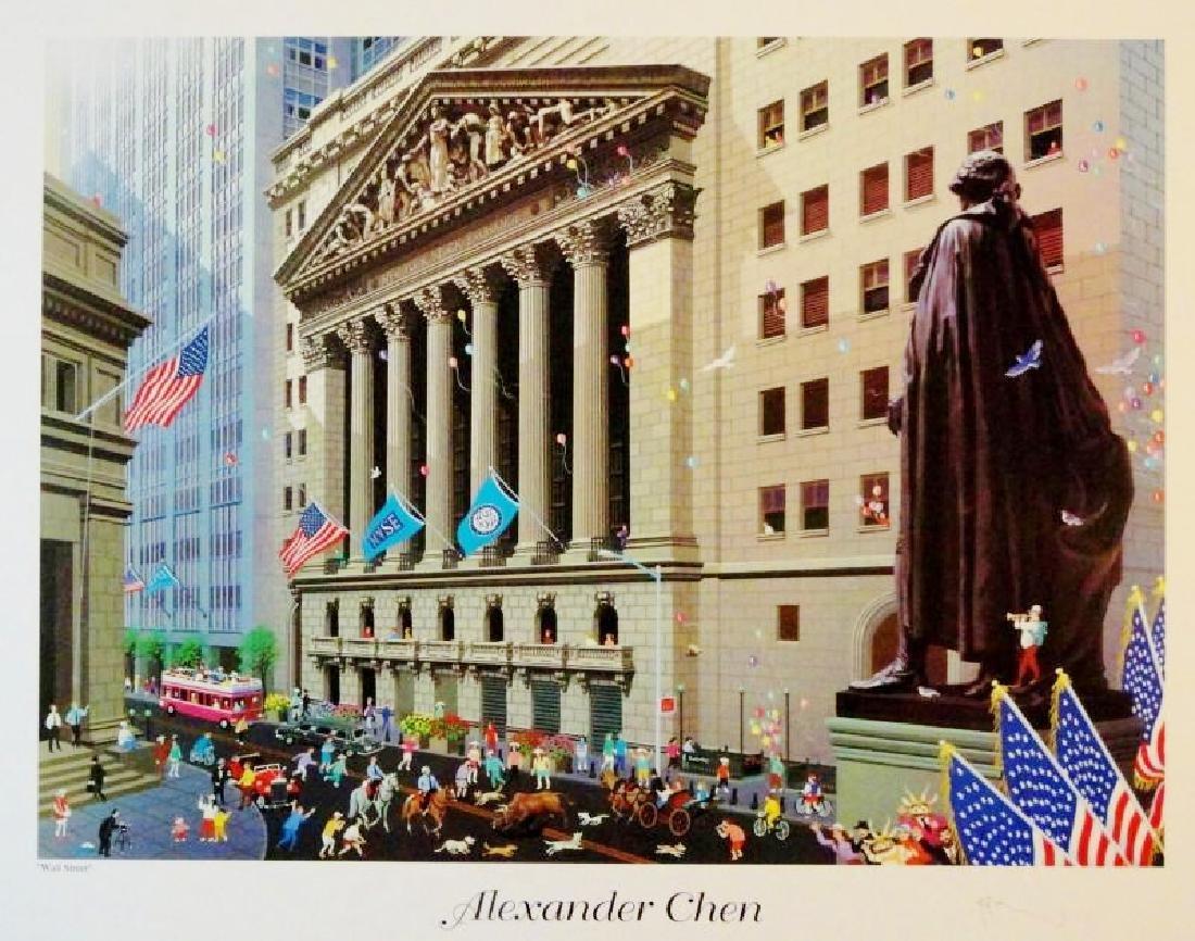 Wall Street Alexander Chen Art Print