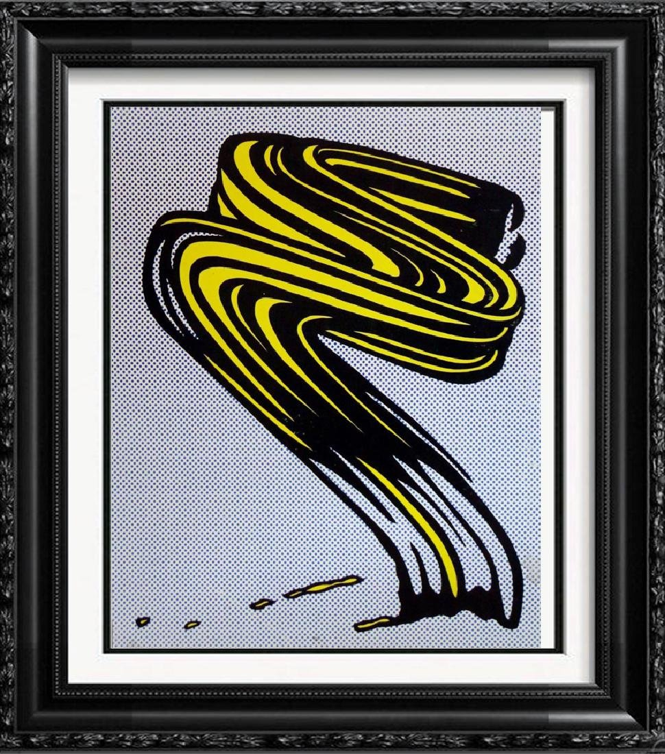 Roy Lichtenstein Brush Strokes Original Lithograph Rare