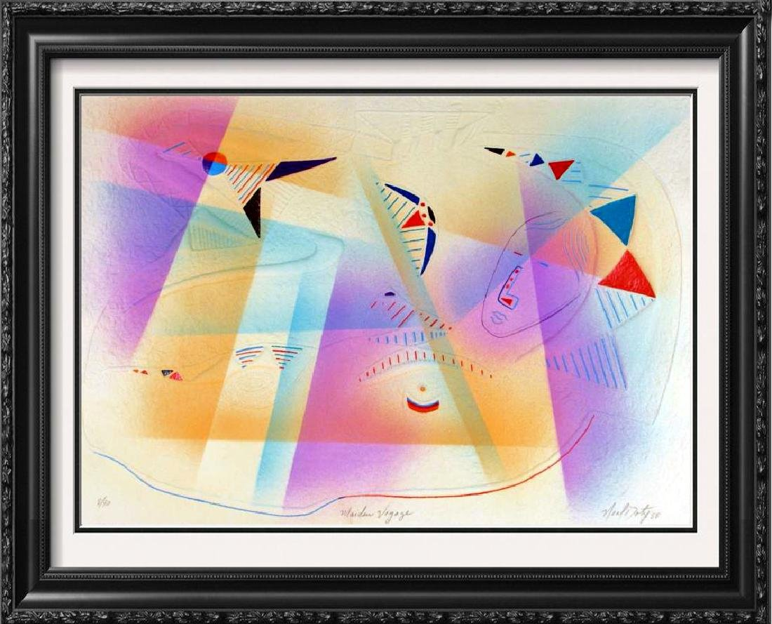 Neil Doty Abstract Modern Colorful Signed Textured Art
