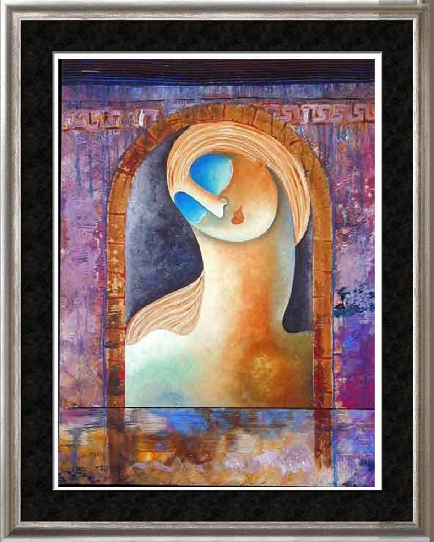 Colorful Modern Abstract Madonna Style Original Canvas