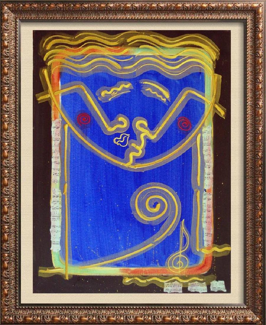 Opus Colorful Bold Mixed Media Modern Painting Signed