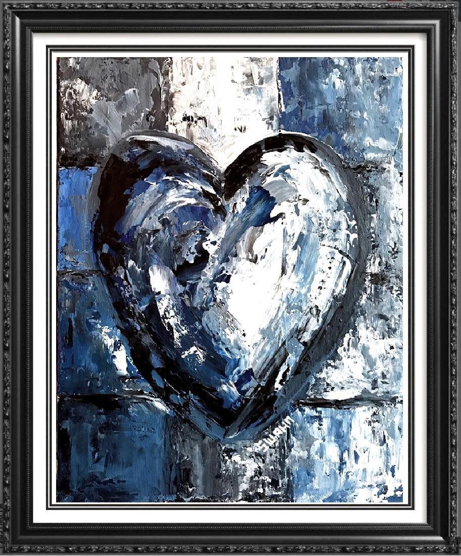 Swahn Heart Original Pop Painting on Board