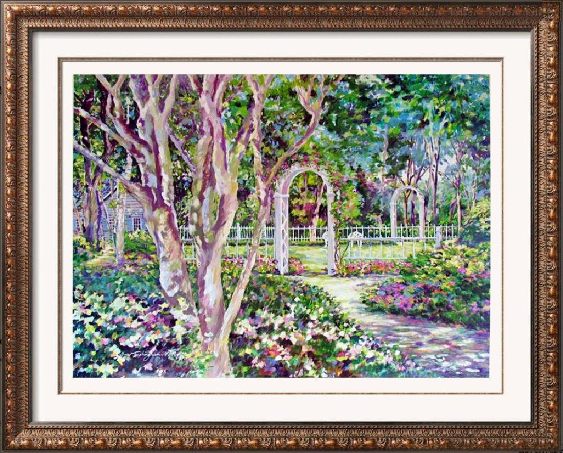 Sue Tushingham Mcmary Garden Arbors Pencil Signed