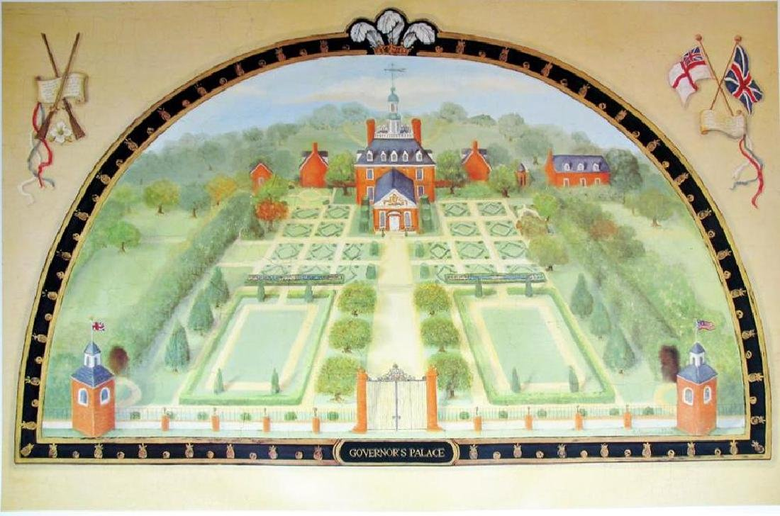 Alexandra Churchill Governor'S Palace Plate Signed 1995