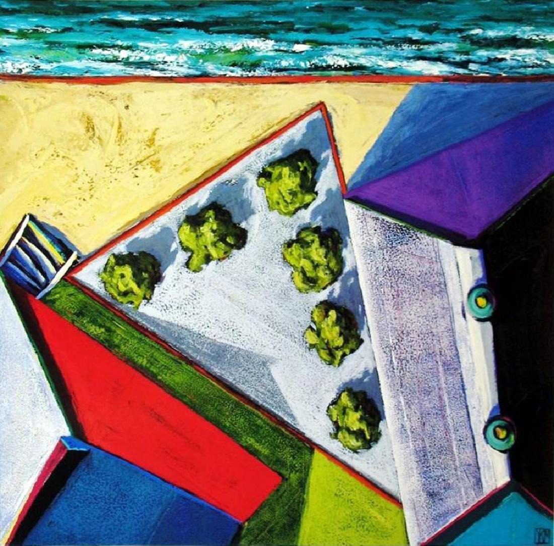 Abstract Modern Art Print Architectural Birds Eye View