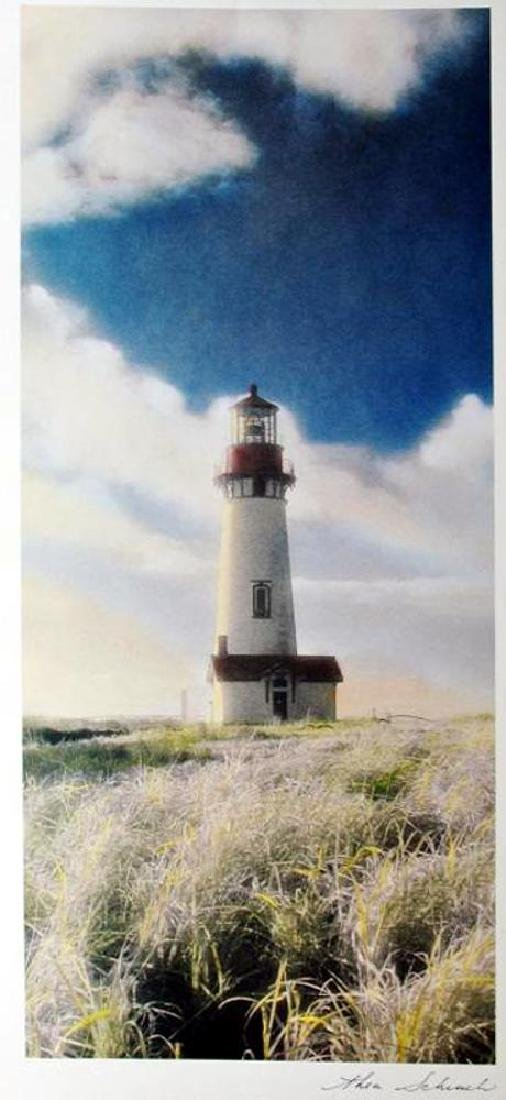 Hand Signed Arches Paper Litho Thea Schrack Yaquina