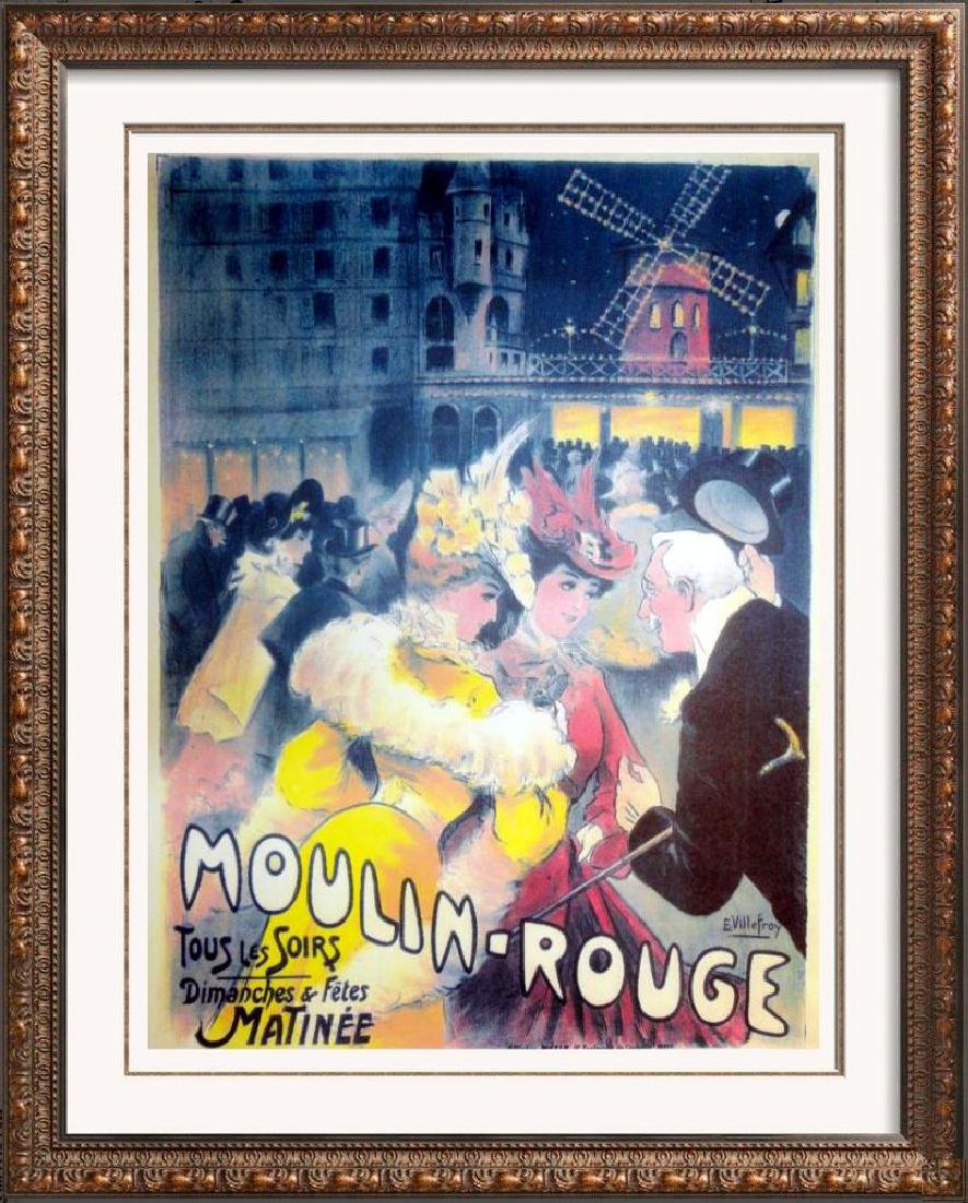 Moulin Rouge Reproduction Antique Poster Large Colorful