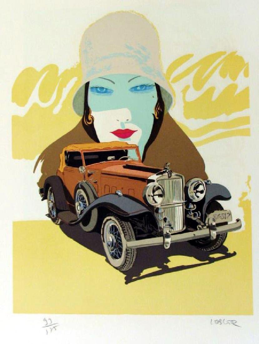 STUTZ ART DECO COLORFUL LIMITED EDITION SIGNED ART