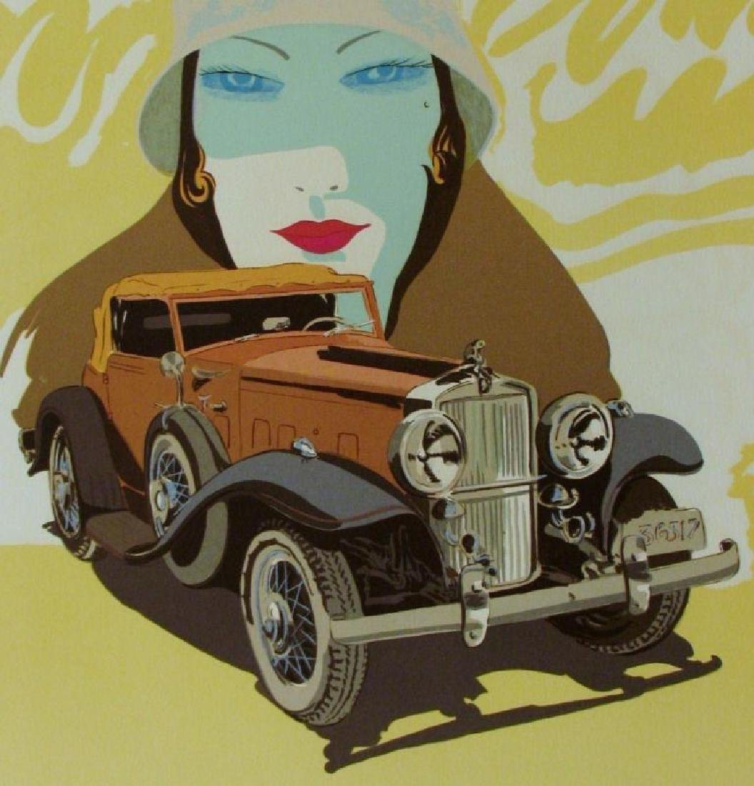 STUTZ ART DECO COLORFUL LIMITED EDITION SIGNED ART - 2