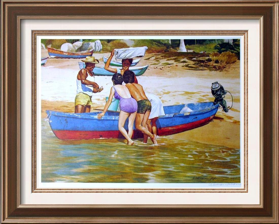 $20 Lithograph Fisherman Scene Ltd Ed Artist Proof Sale