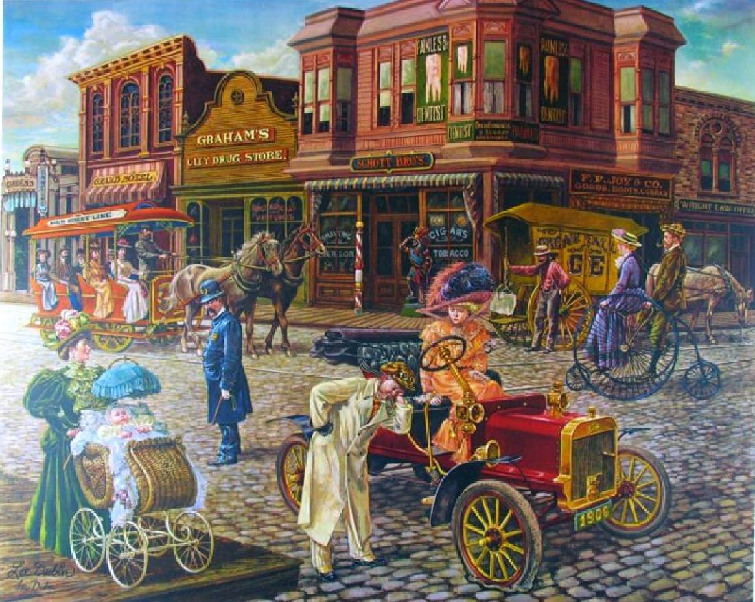 Nostalgia Main Street Dubin Signed Ltd Ed Colorful
