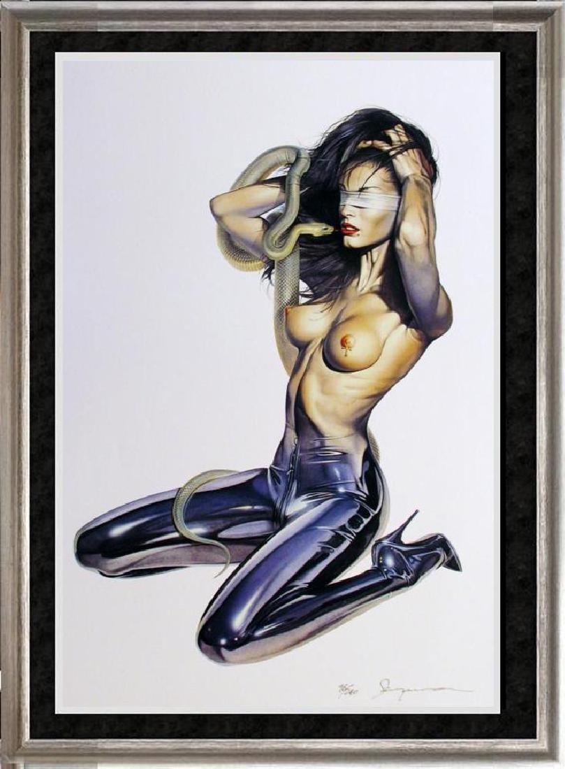 Sorayama Ltd Ed Snake Black Leather Erotica Xx Nude