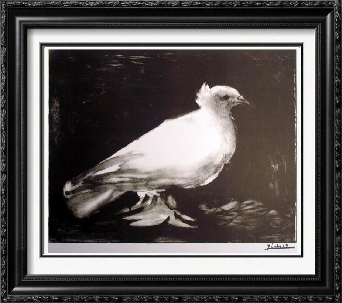 RARE PABLO PICASSO WHITE BIRD SIGNED LITHOGRAPH