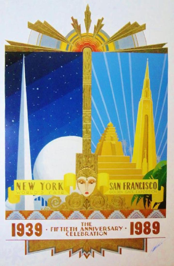 Art Deco 1939-1989 50th NY SF Anniversary Hand Signed