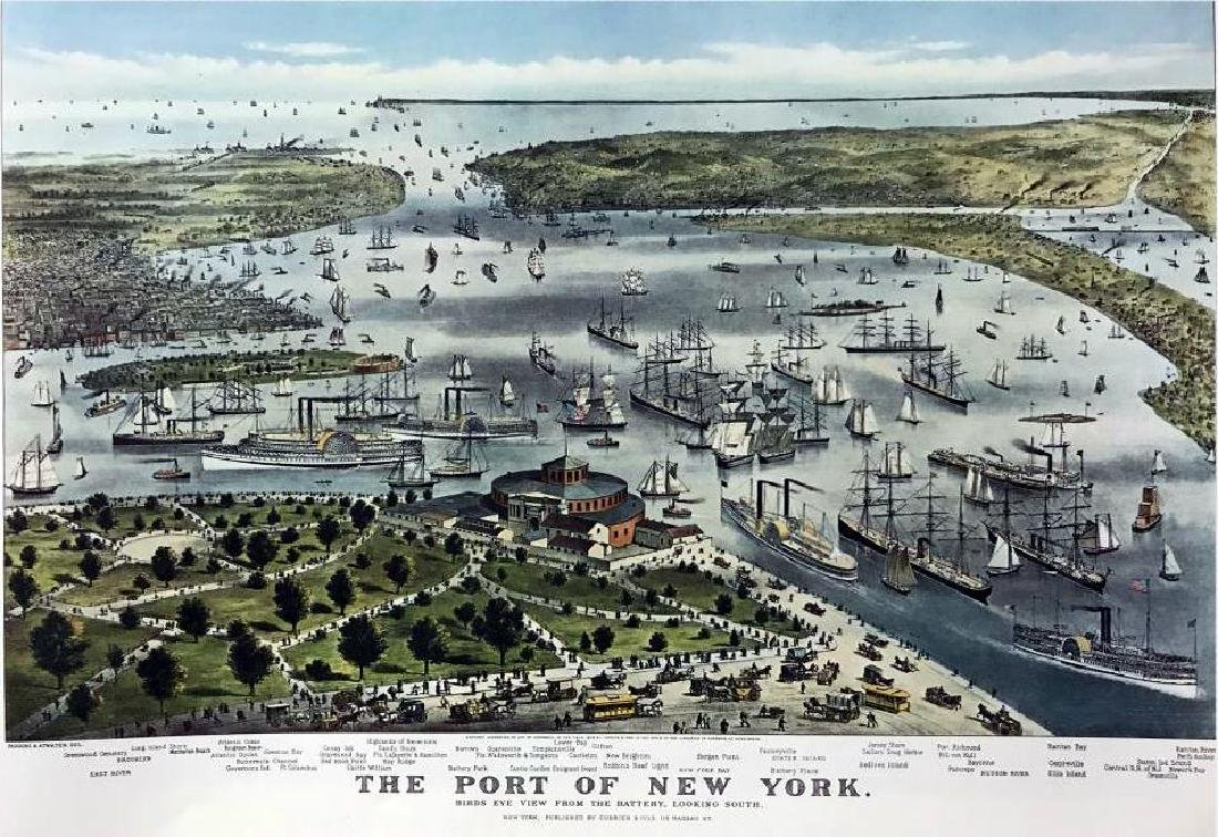 Roy King c.1987 The Port Of New York, The Waterfront - 2
