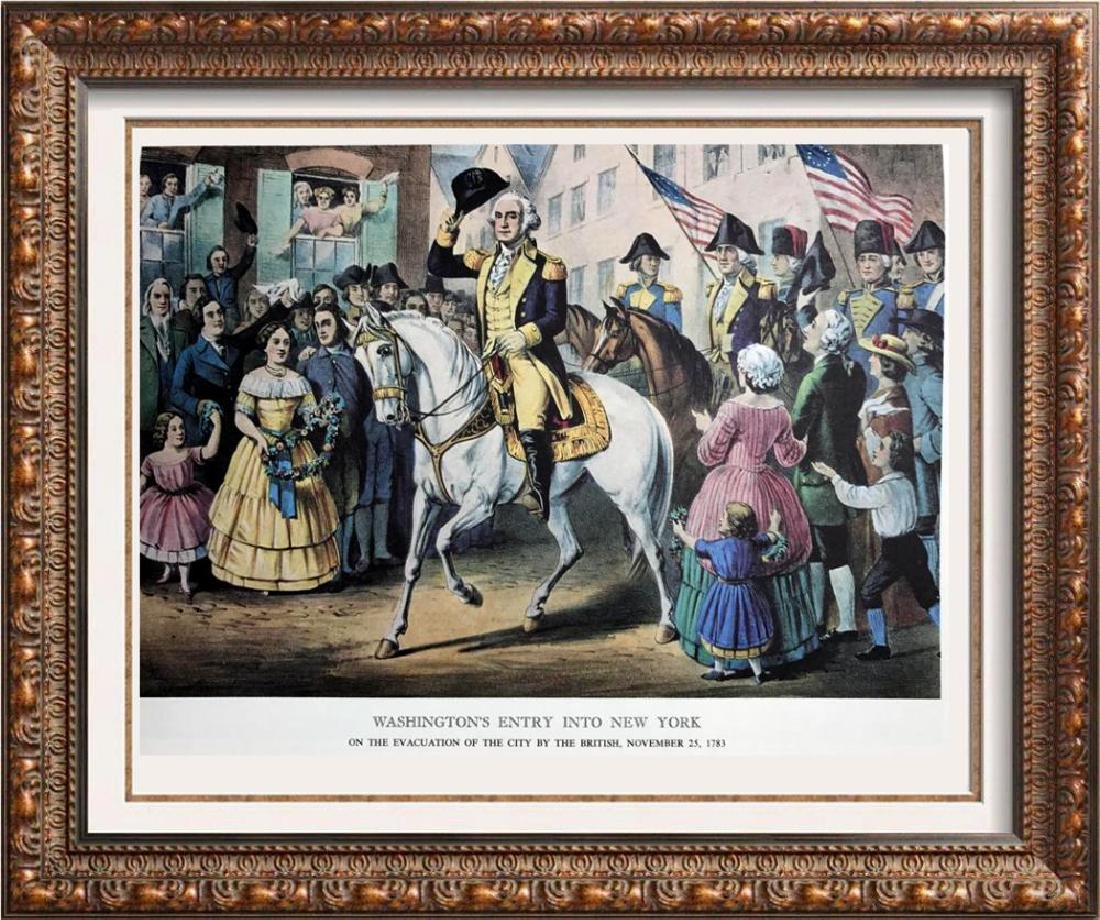 Washington's Entry Into New York Color Lithographic