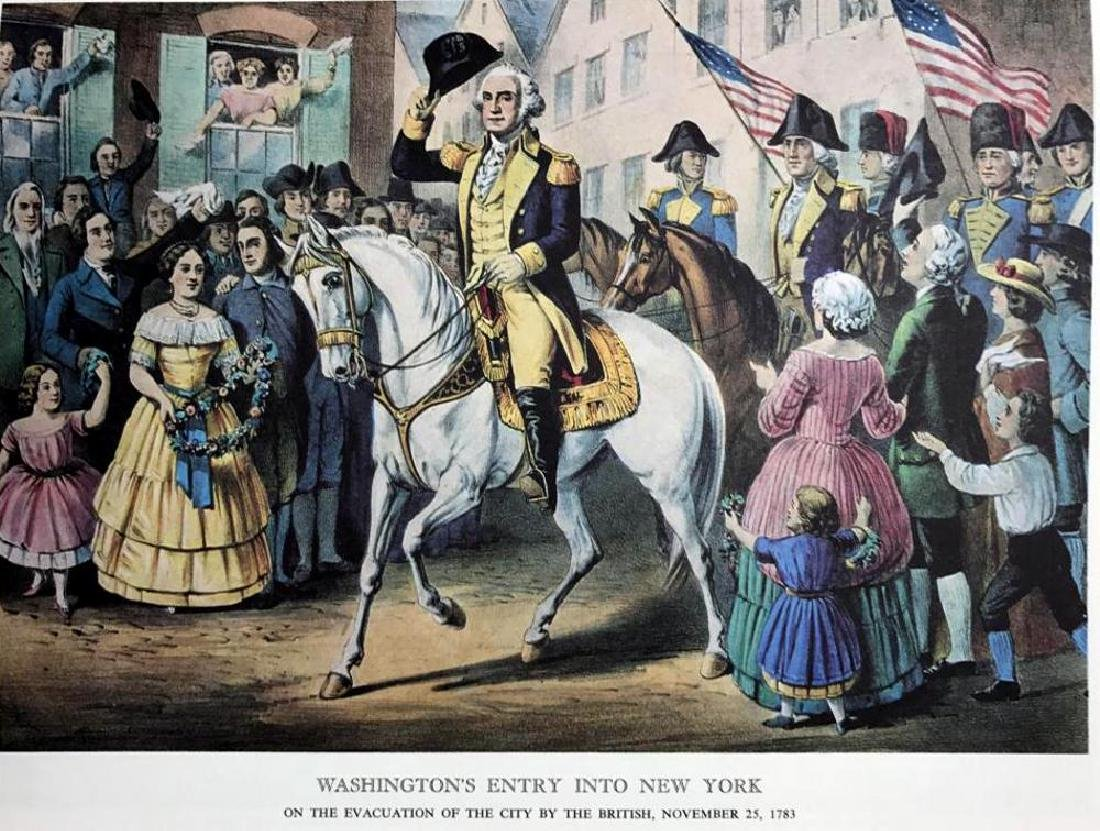 Washington's Entry Into New York Color Lithographic - 2