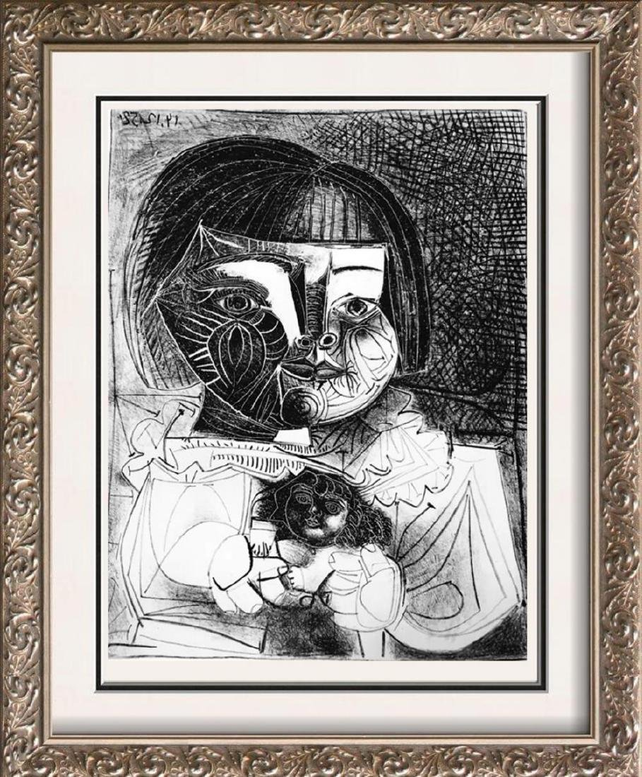 Pablo Picasso 'After'  Paloma and Her Doll c. 1952 Fine