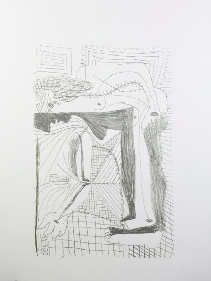 PICASSO PORTRAIT ABSTRACT LINE DRAWING - 2