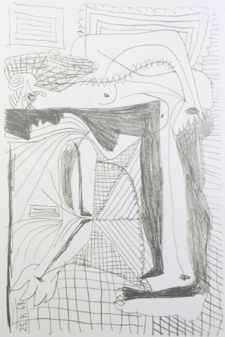 PICASSO PORTRAIT ABSTRACT LINE DRAWING - 3